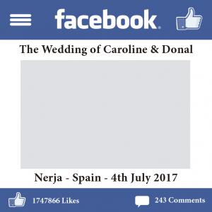 nerja wedding facebook photocall