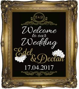nerja wedding gilt frame